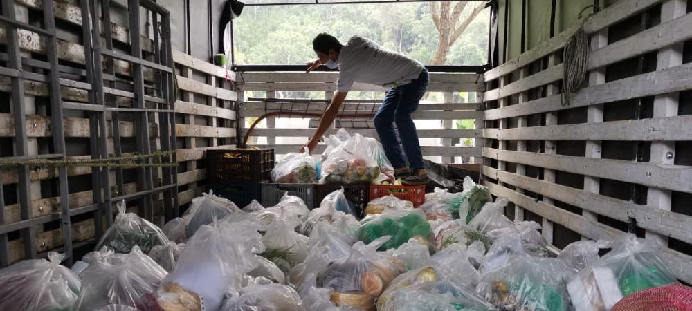 Con la aplicación, de la plataforma compra local en tres días se vendieron 8,2 toneladas en productos campesinos