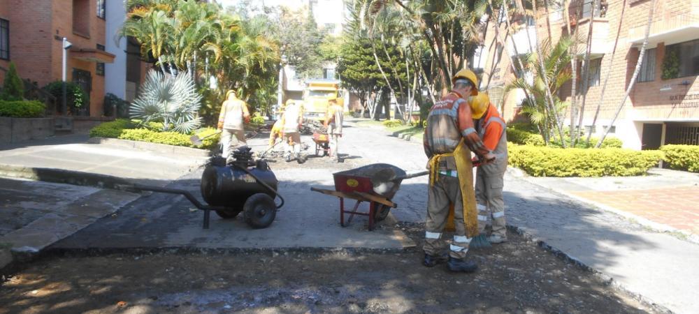 Reparaciones malla vial