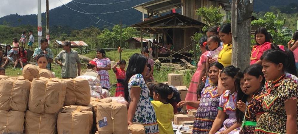 Acompañamiento a familias indígenas