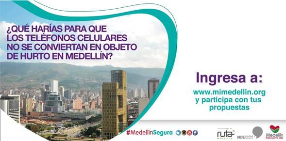 Alcaldía de Medellín invita a la ciudadanía a proponer soluciones para combatir el hurto de teléfonos celulares